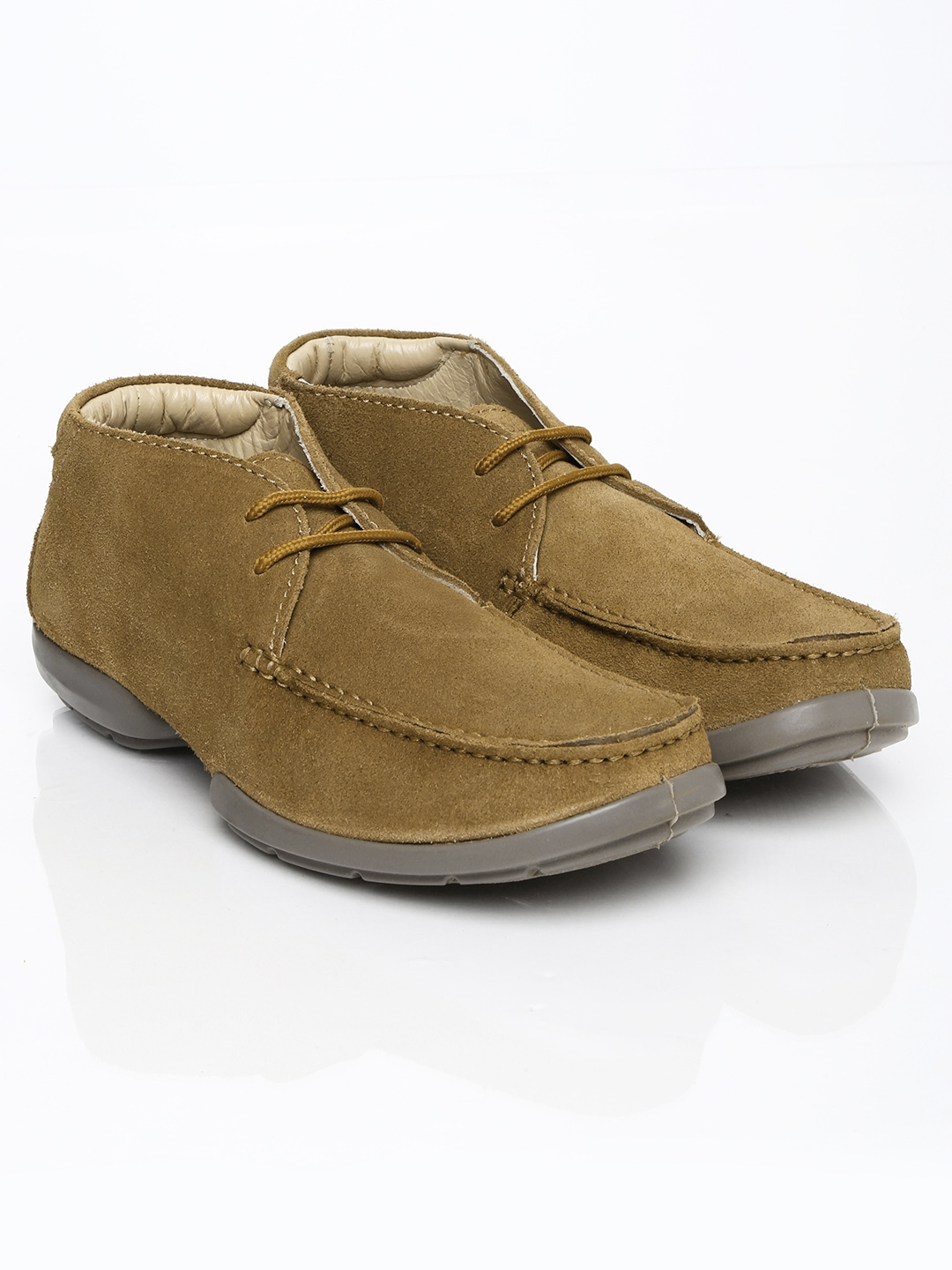 myntra woodland brown suede casual shoes 699015 buy