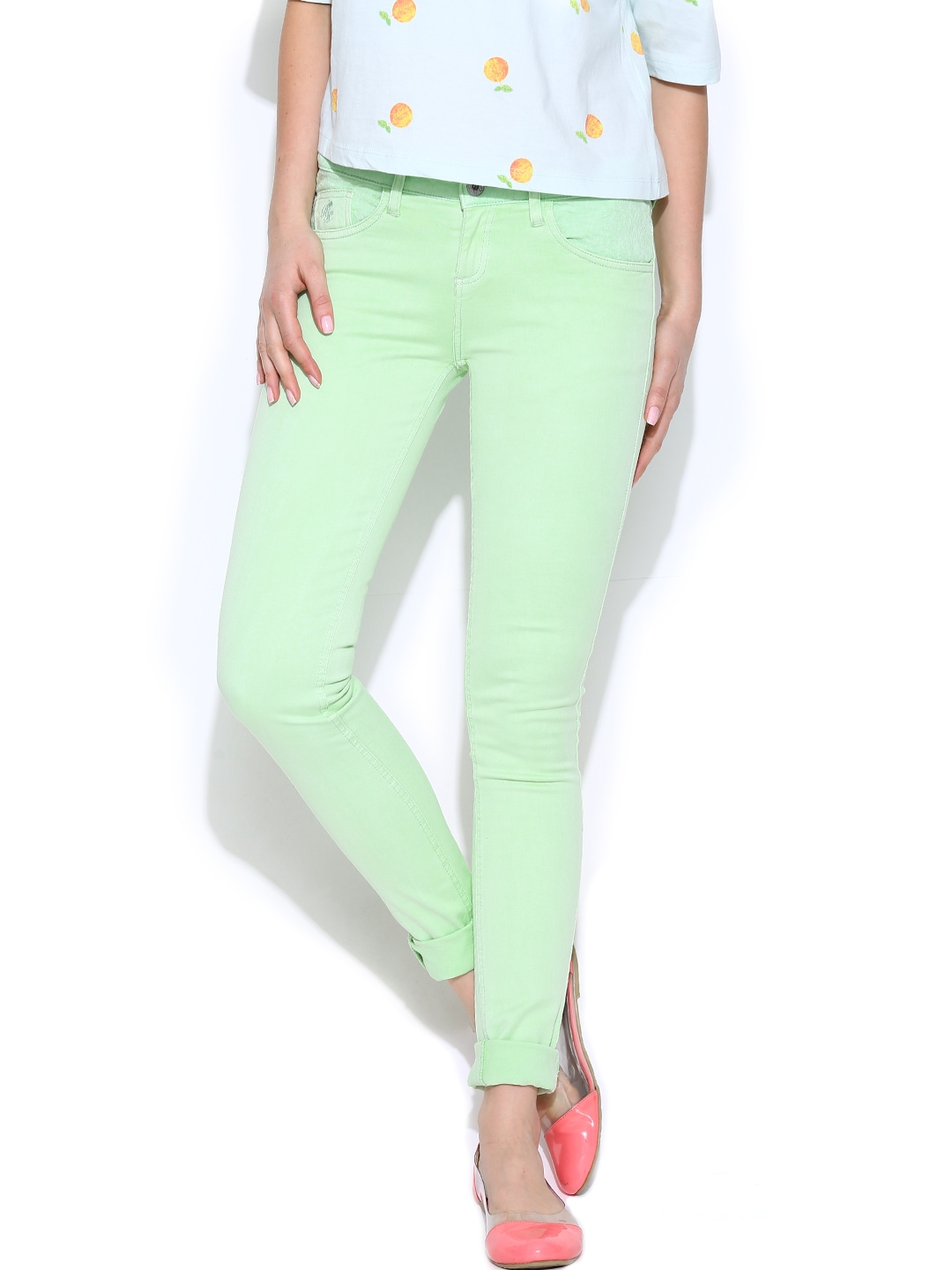 Perfect Spring In Every Season Jeans In Mint For Women  Dawoob Women