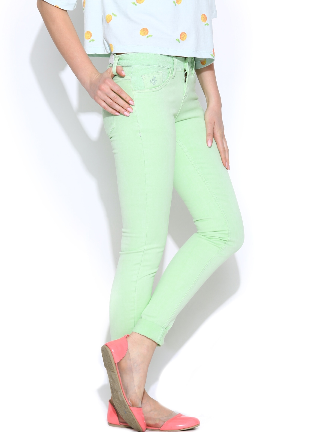 Simple New Slack Swing Pants In Mint For Women  Aewom
