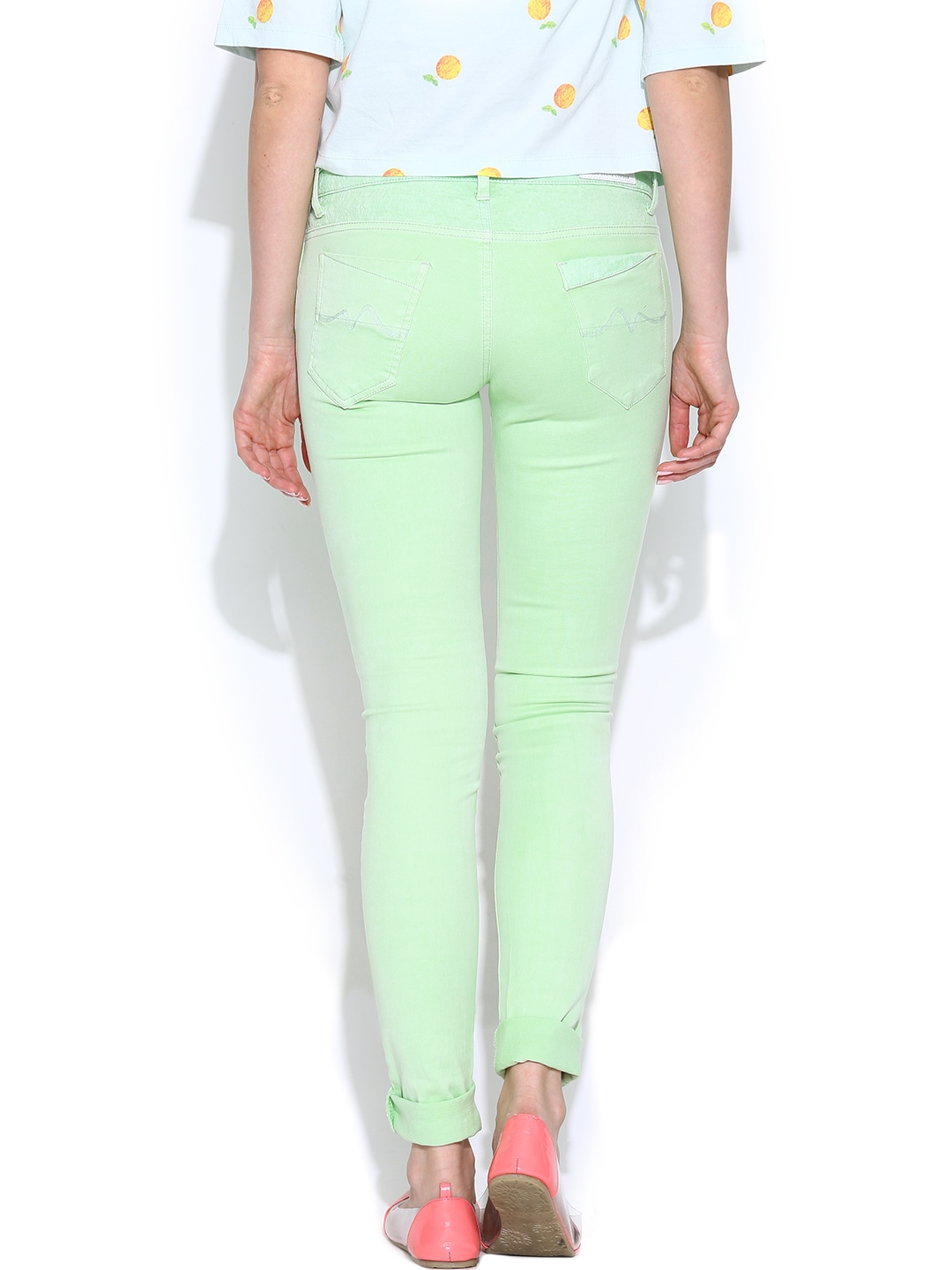Brilliant Jeans Skinny Jeans Mint GreenWash ColoredDenim  Womens Else Jeans