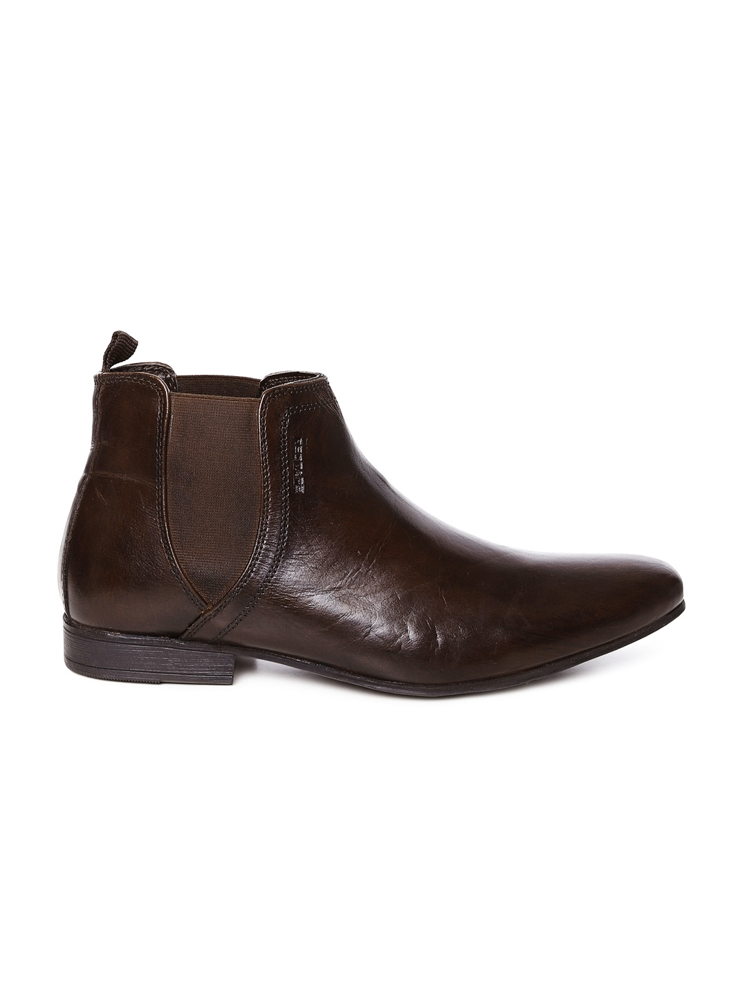 myntra red tape men brown leather boots 701036 buy