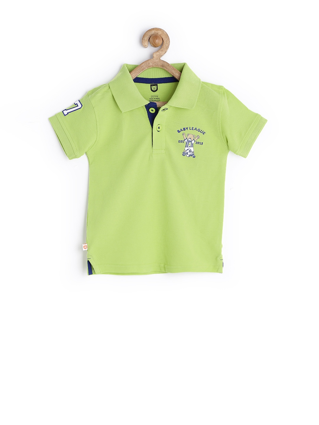 Myntra Baby League Boys Green Polo T Shirt 701201 Buy