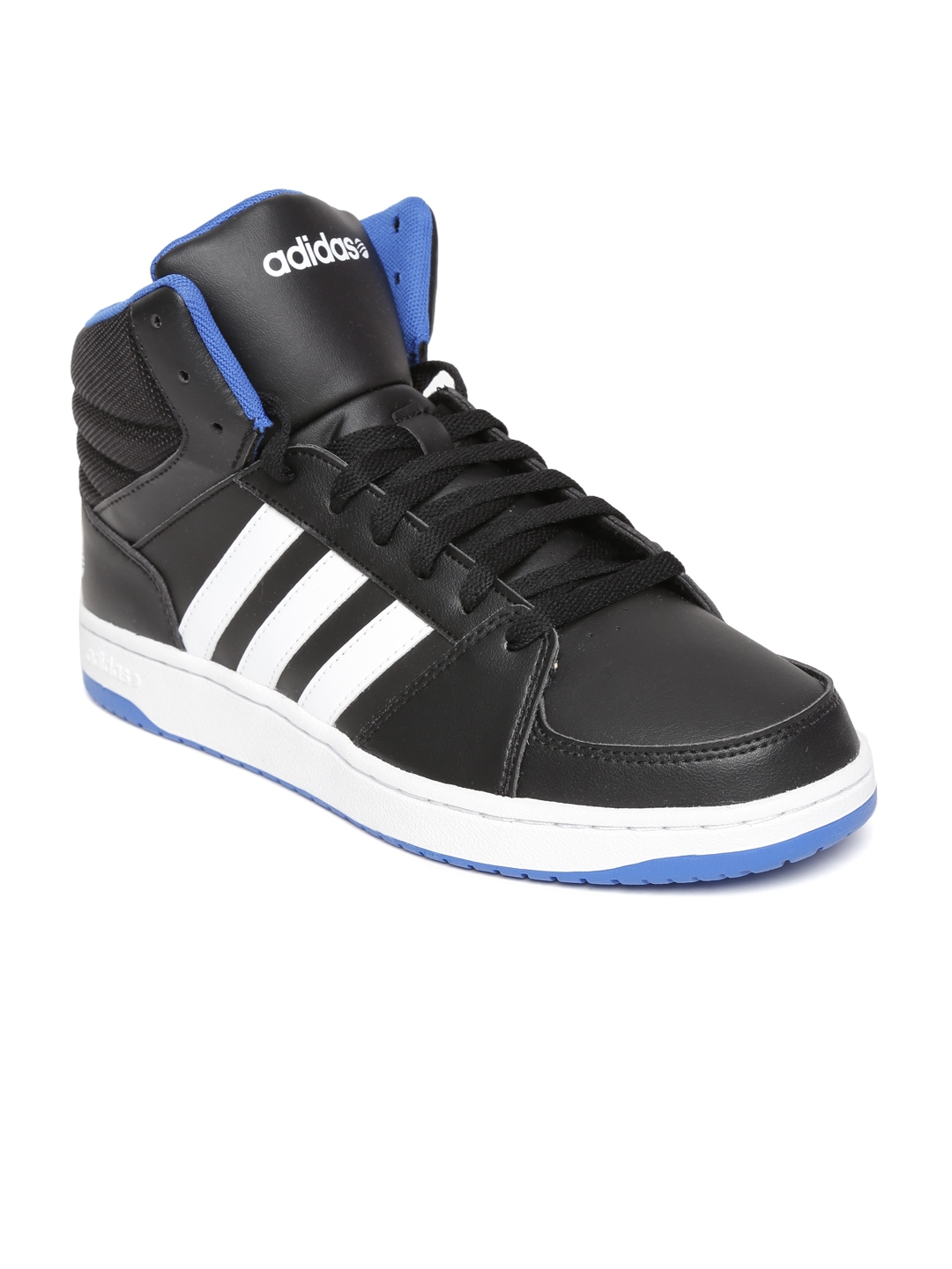 myntra adidas neo black hoops vs mid casual shoes