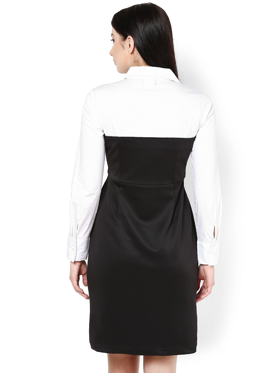 Myntra kaaryah black white shirt dress 703822 buy for Buy white dress shirt