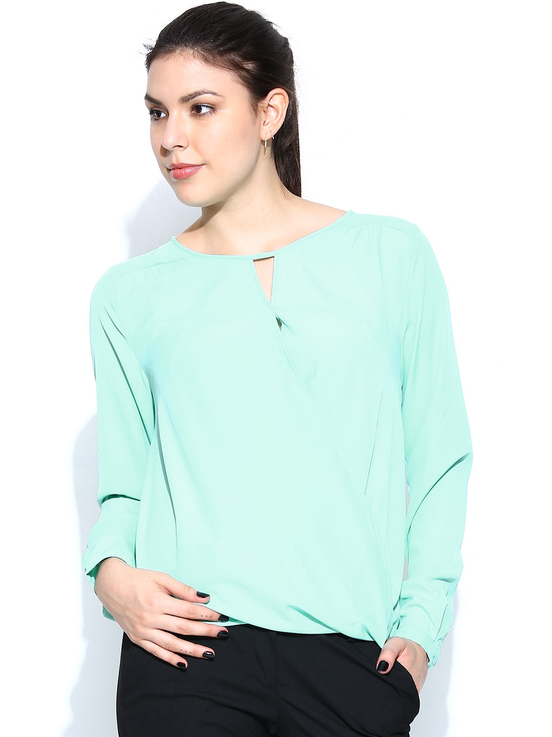 Pilot Molly Hanky Hem Camisole Top in Mint Green Find this Pin and more on Polyvore by Erin Ciolli. A fashion look from August featuring mint crop top. Designer Clothes, Shoes & Bags for Women.