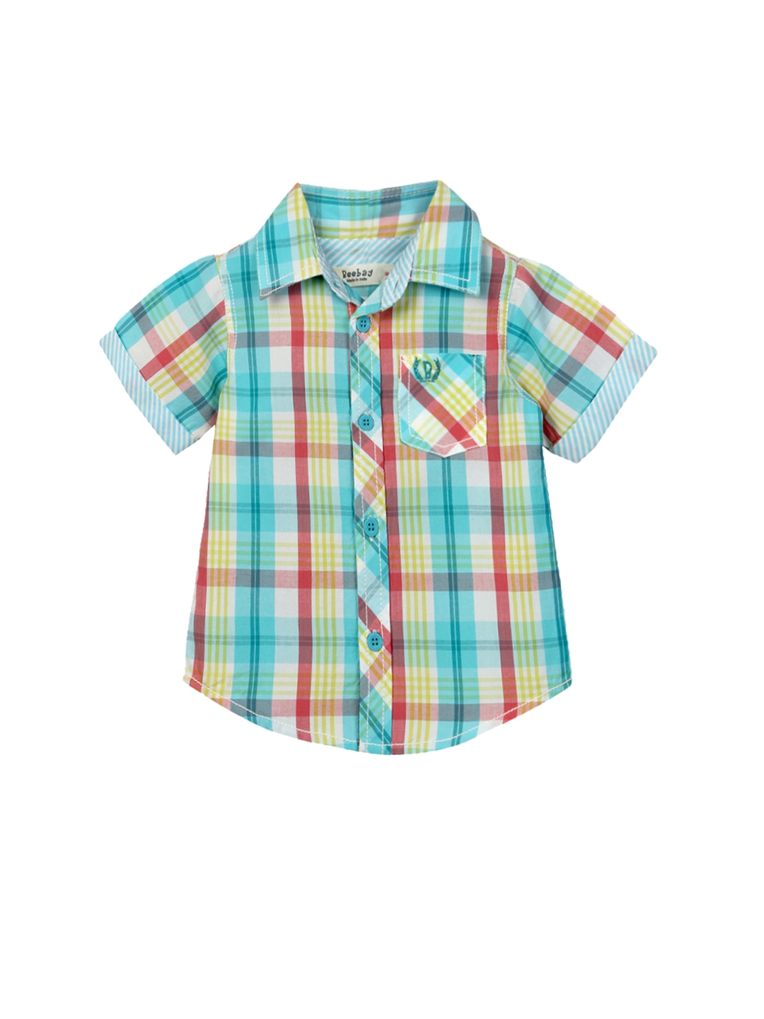 Myntra beebay boys multicoloured checked shirt 704522 for Shirts online shopping lowest price