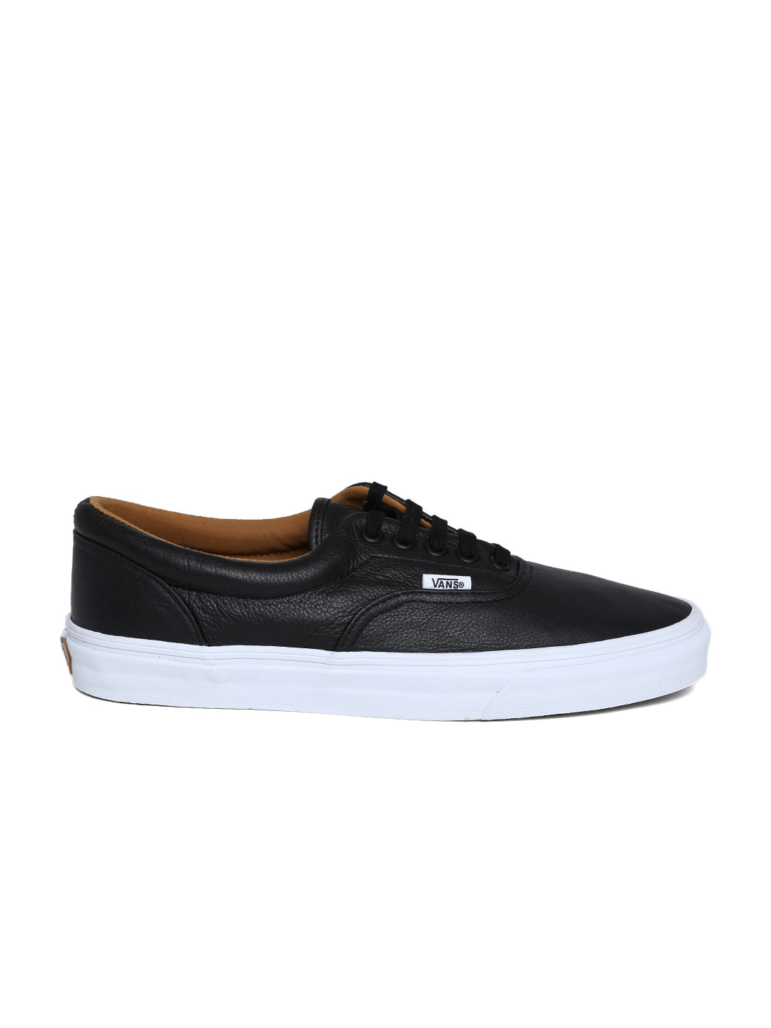 myntra vans unisex black leather casual shoes 705391 buy