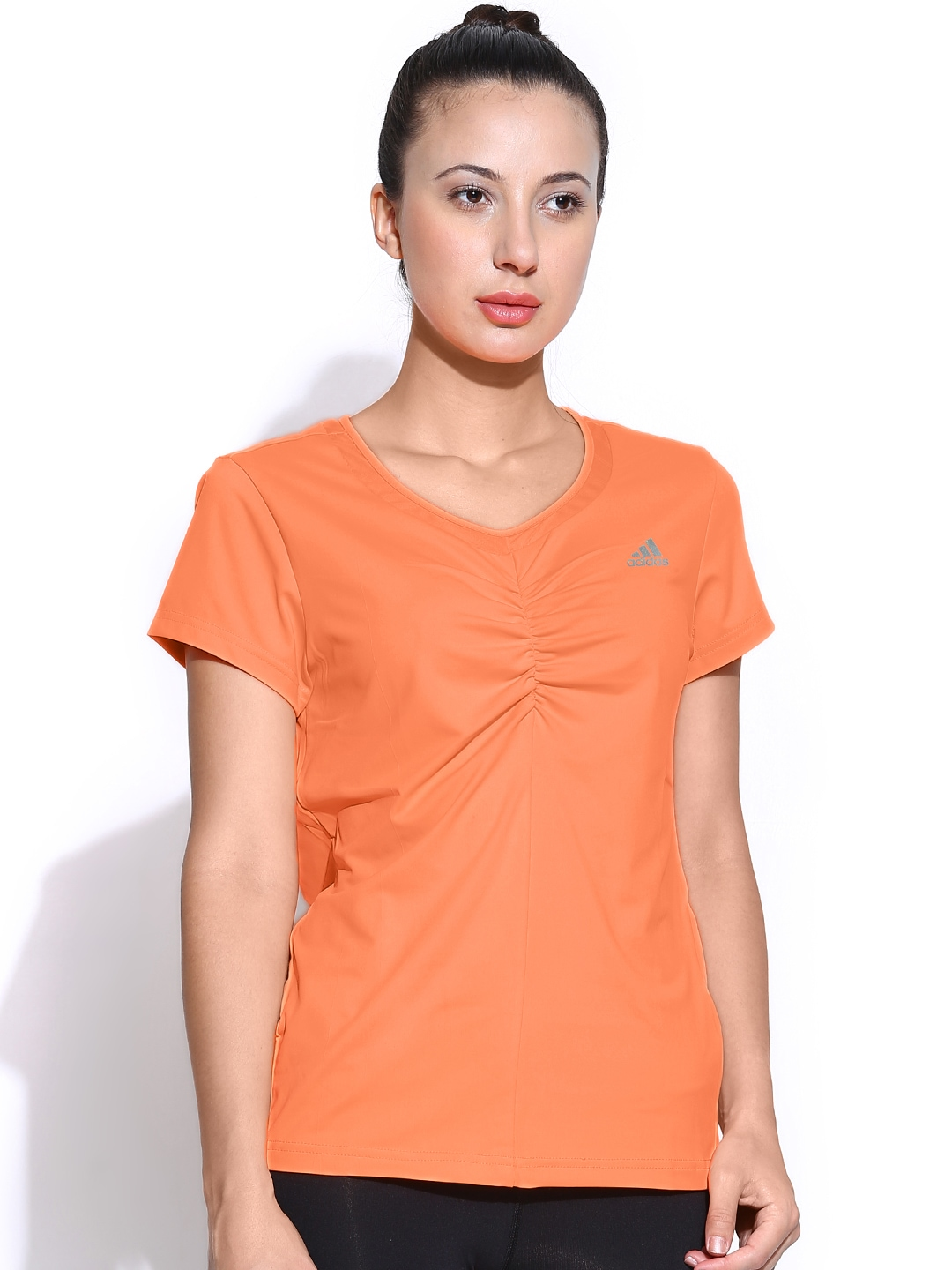 myntra adidas women neon orange w ap tee tennis t shirt 705958 buy myntra adidas tshirts at. Black Bedroom Furniture Sets. Home Design Ideas