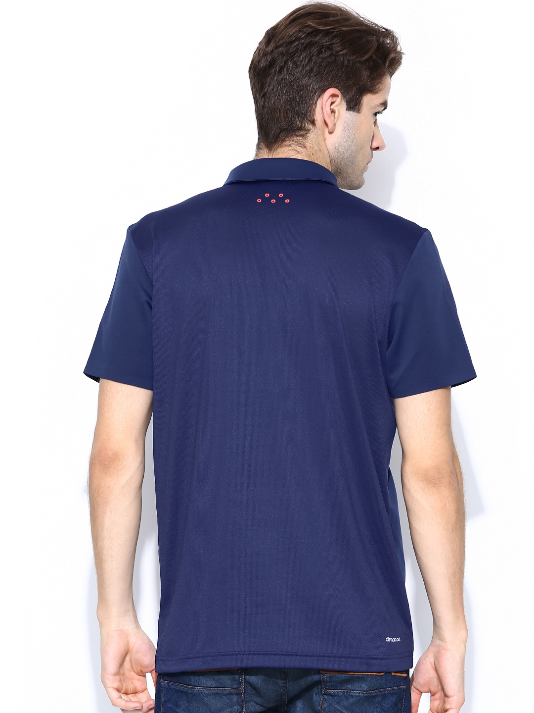 Myntra Adidas Men Navy Barricade Polo T Shirt 706018 Buy