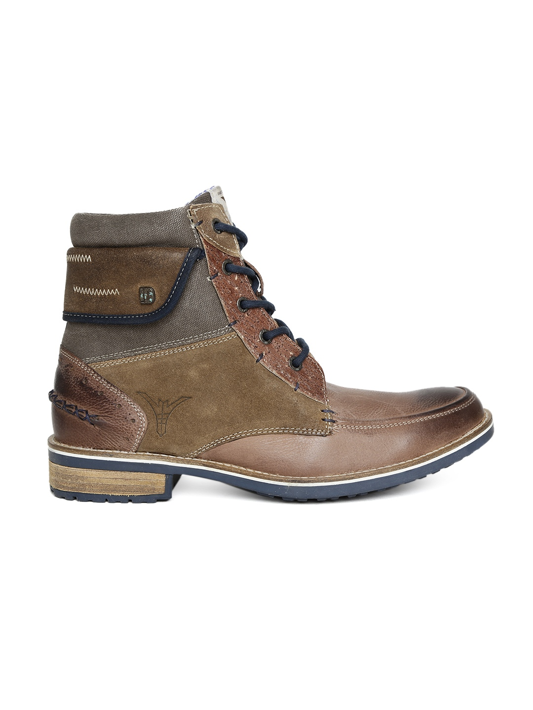 myntra id brown leather boots 706742 buy myntra