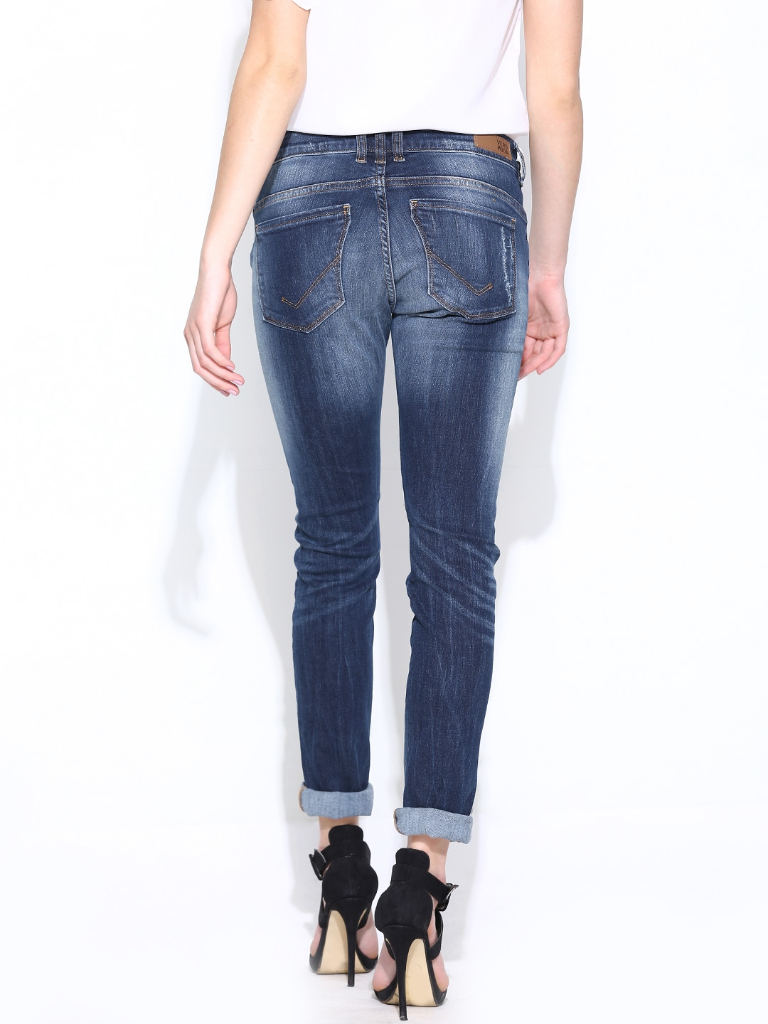 myntra vero moda women blue slim fit jeans 706968 buy myntra vero moda jeans at best price. Black Bedroom Furniture Sets. Home Design Ideas