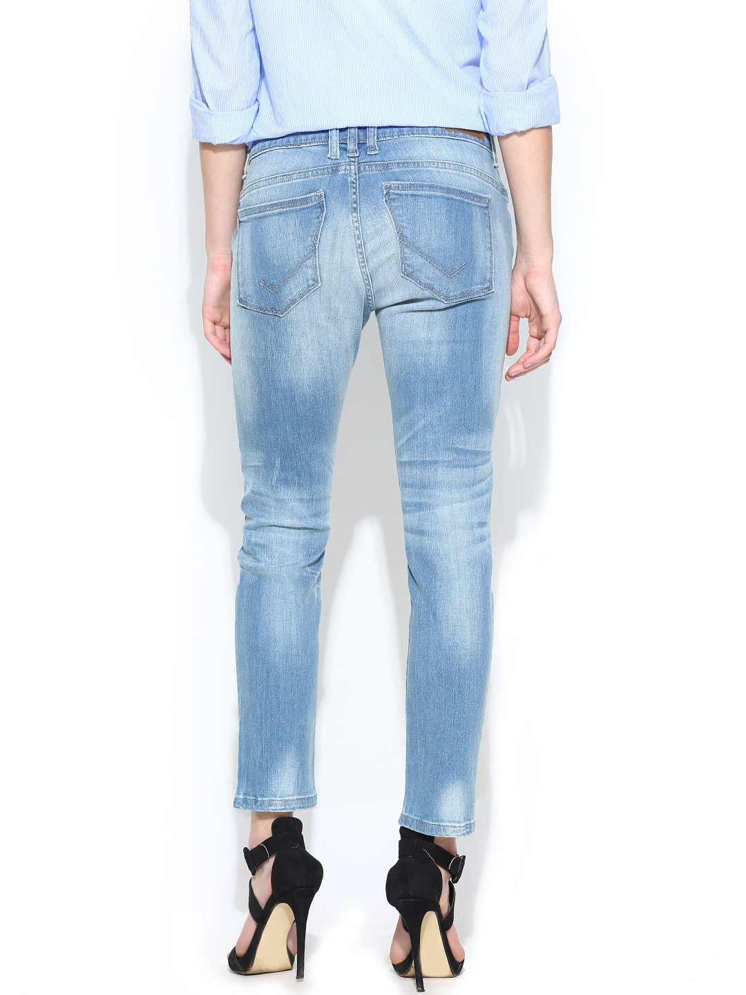 myntra vero moda women blue slim fit jeans 706969 buy myntra vero moda jeans at best price. Black Bedroom Furniture Sets. Home Design Ideas