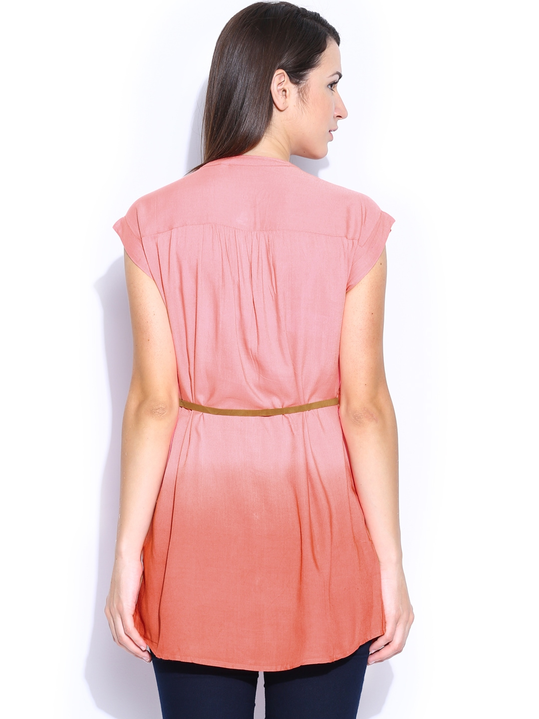 Myntra people women pink ombre shirt 707245 buy myntra for Shirts online shopping lowest price