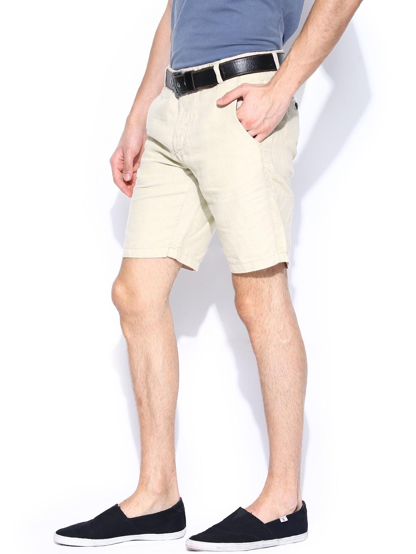 myntra jack jones men beige shorts 707521 buy myntra. Black Bedroom Furniture Sets. Home Design Ideas