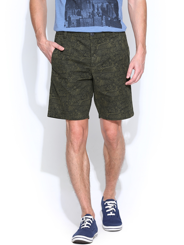 jack jones men white shorts 509399 buy myntra jack jones shorts. Black Bedroom Furniture Sets. Home Design Ideas