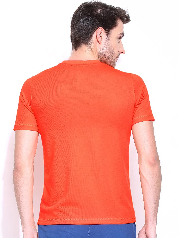 Myntra Reebok Men Neon Orange Wor Speed Printed T Shirt