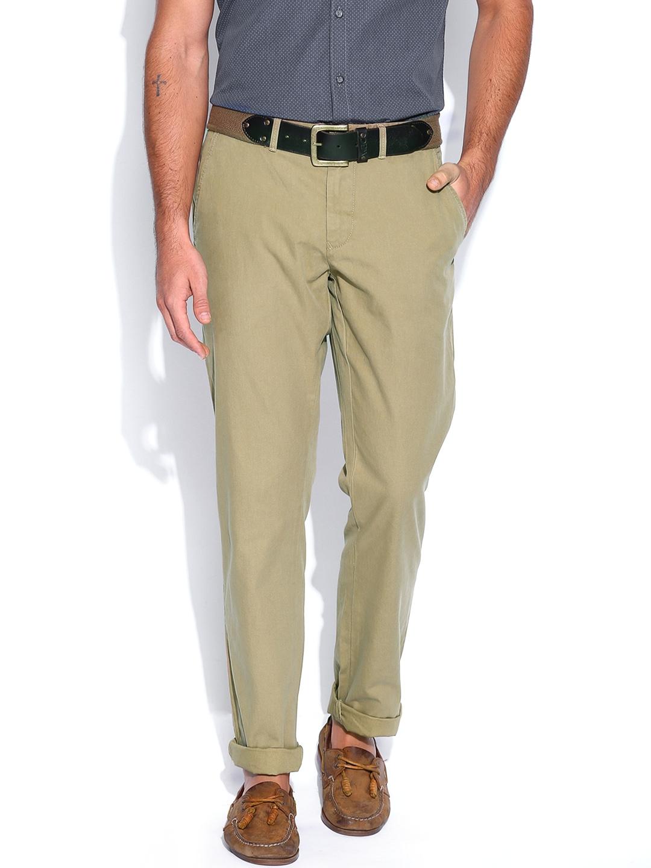 myntra tommy hilfiger men khaki mercer chino trousers. Black Bedroom Furniture Sets. Home Design Ideas