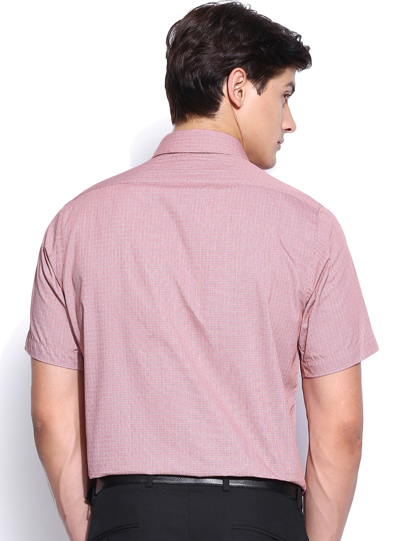 Myntra van heusen men red checked slim fit formal shirt for Tuxedo shirt vs dress shirt
