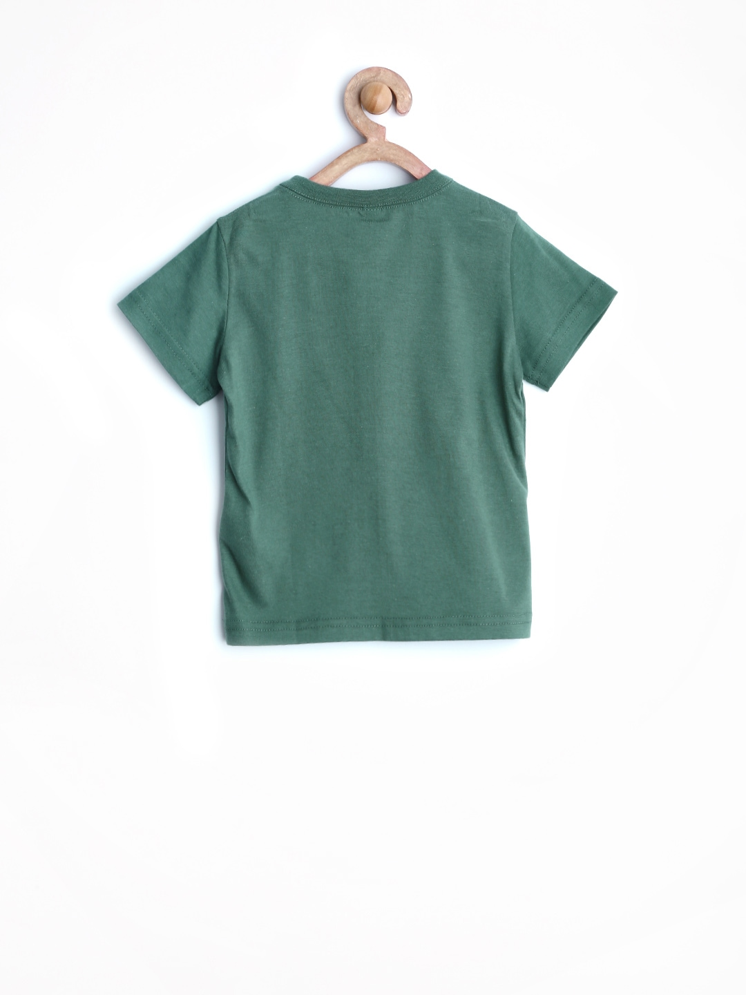 Myntra united colors of benetton boys teal green printed t for Boys teal t shirt