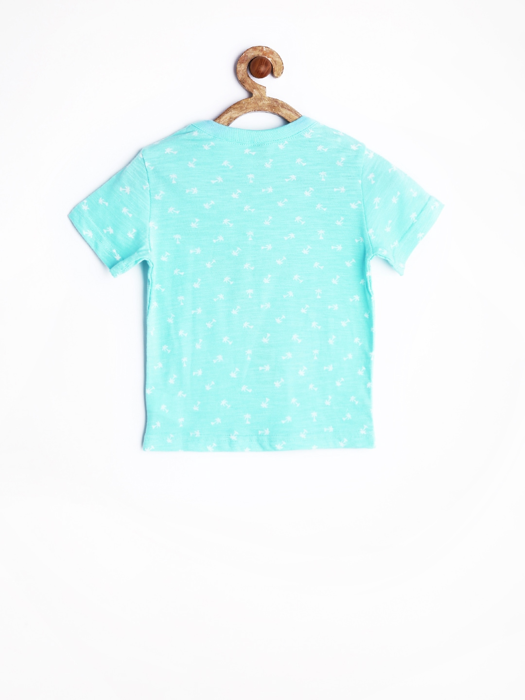 Myntra united colors of benetton boys turquoise blue for Aqua blue color t shirt