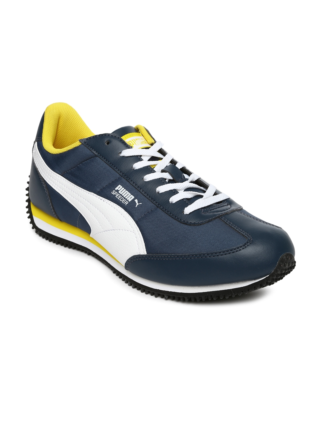 myntra puma men blue speeder tetron ii casual shoes 716042