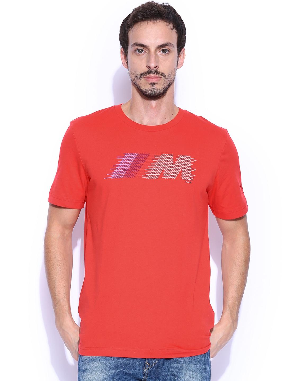 Myntra puma men red bmw m t shirt 716482 buy myntra puma for Bmw t shirt online
