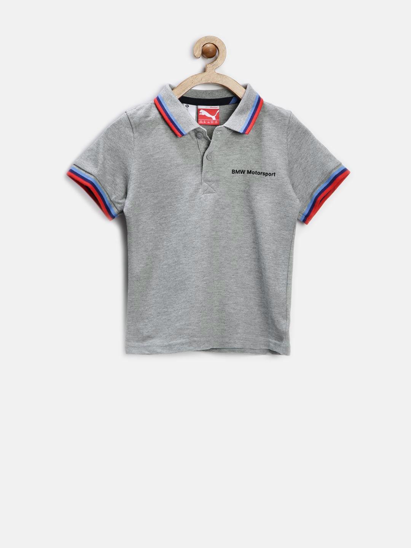 Myntra puma boys grey melange bmw motorsport polo t shirt for Bmw t shirt online