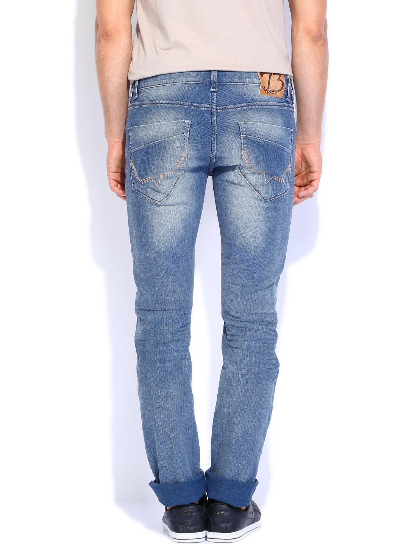 Myntra Pepe Jeans Men Blue Vapour Slim Fit Jeans 716665 ...