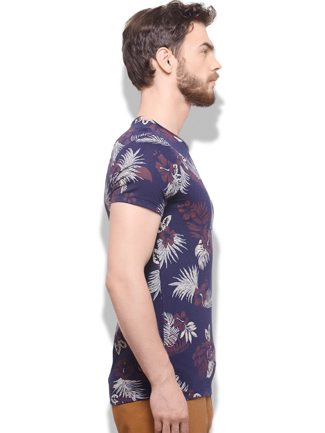 Myntra United Colors of Benetton Men Navy Floral Printed T ...