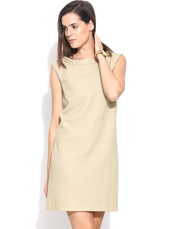 Myntra united colors of benetton beige shift dress 717514 for Shop online benetton