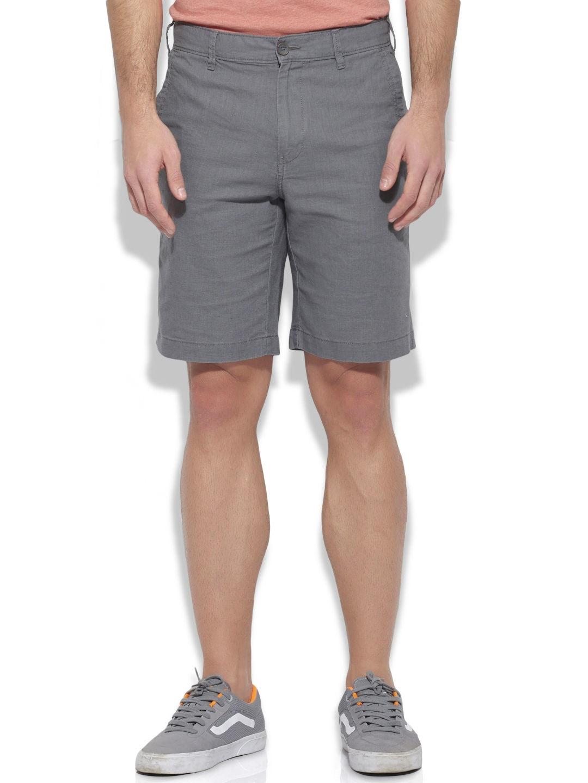 Buy United Colors Of Benetton Men Grey Linen Shorts - Shorts for ...