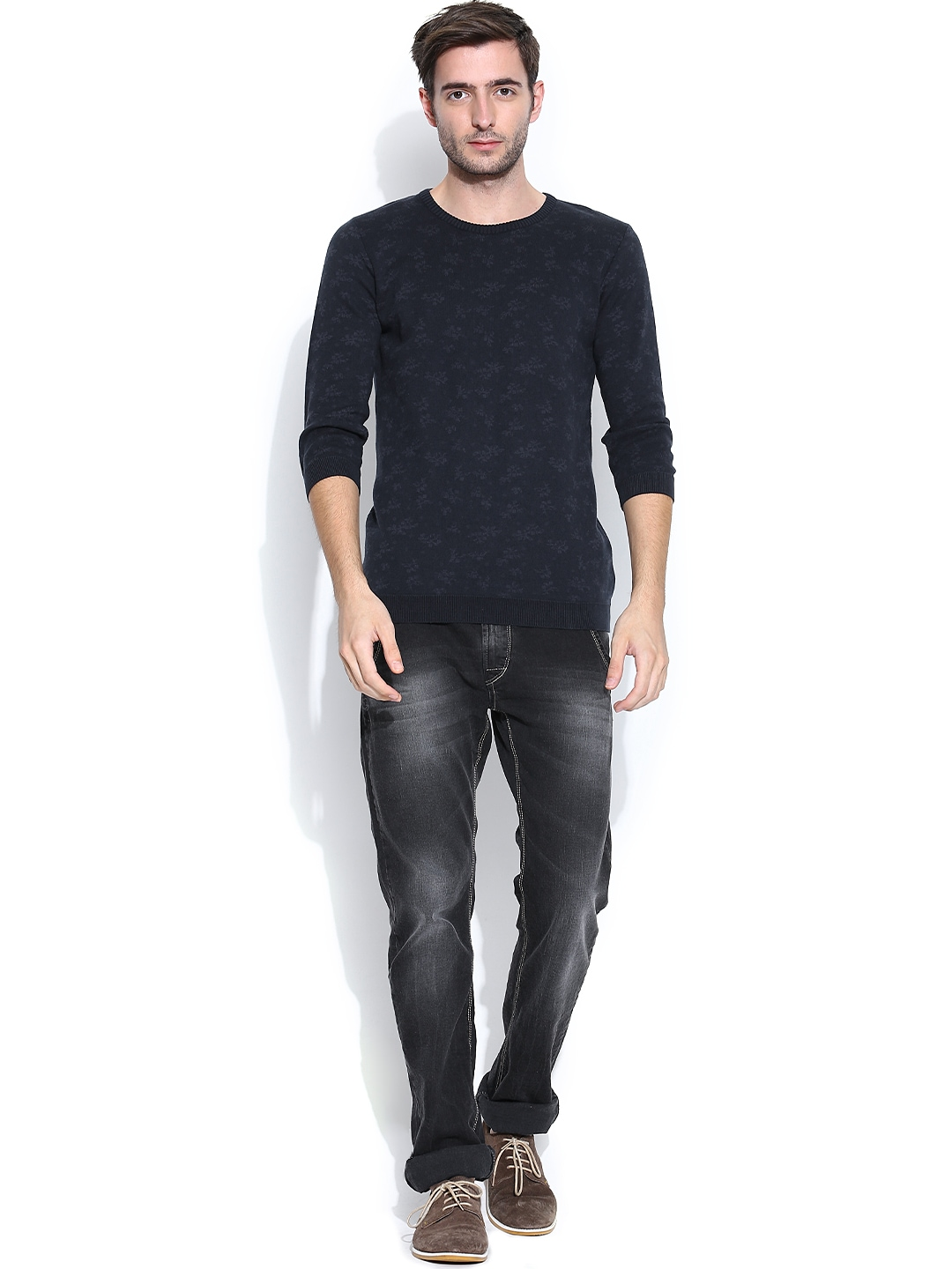 by United Colors of Benetton More Navy Blue Sweaters More Sweaters