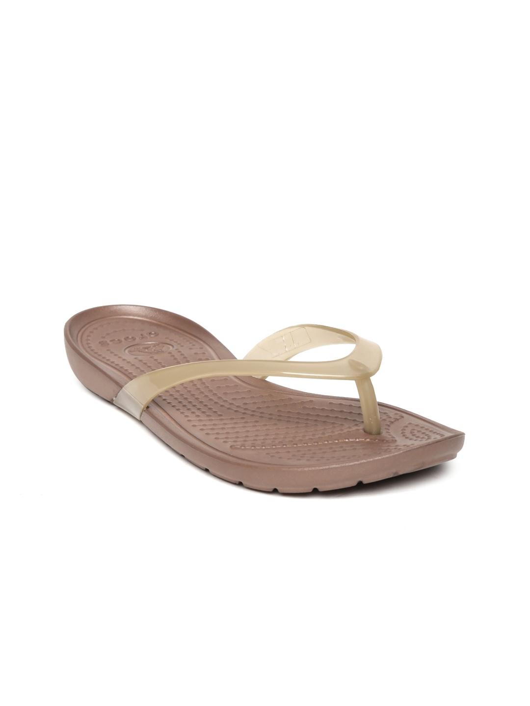 myntra crocs women brown flip flops 718175 buy myntra crocs flip flops at best price online. Black Bedroom Furniture Sets. Home Design Ideas