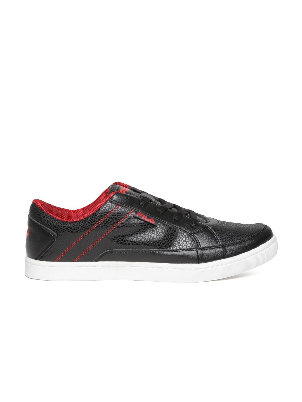 myntra fila black romar casual shoes 718778 buy