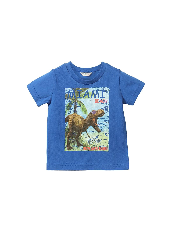 Myntra beebay boys blue printed t shirt 721267 buy for Boys printed t shirts