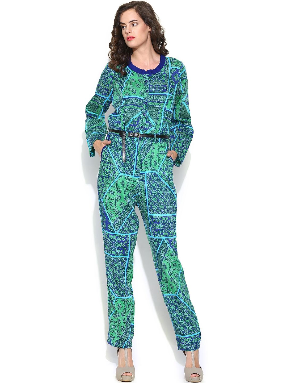 Unique Green Jumpsuit Long Sleeve Romper Womens Romper Sexy Romper Womens