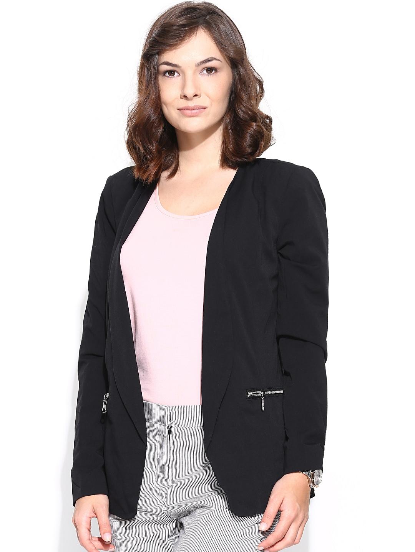 myntra vero moda women black blazer 726806 buy myntra vero moda blazers at best price online. Black Bedroom Furniture Sets. Home Design Ideas