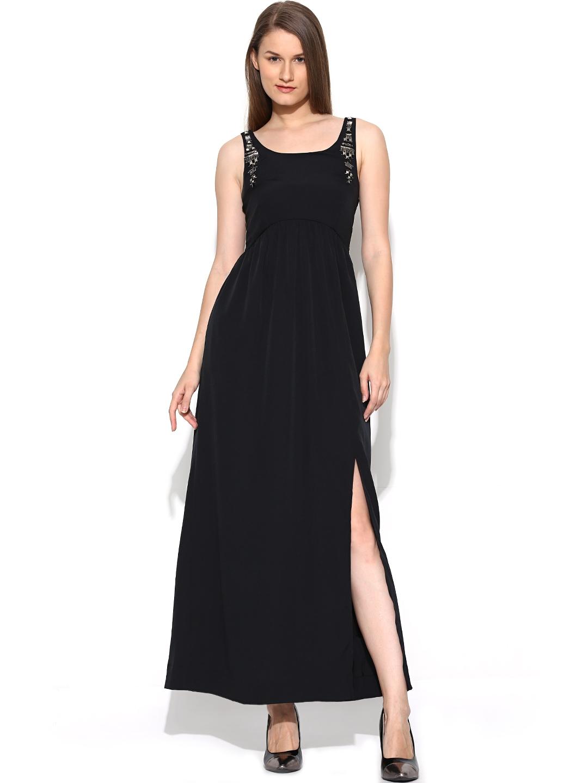 myntra vero moda black maxi dress 726825 buy myntra vero. Black Bedroom Furniture Sets. Home Design Ideas