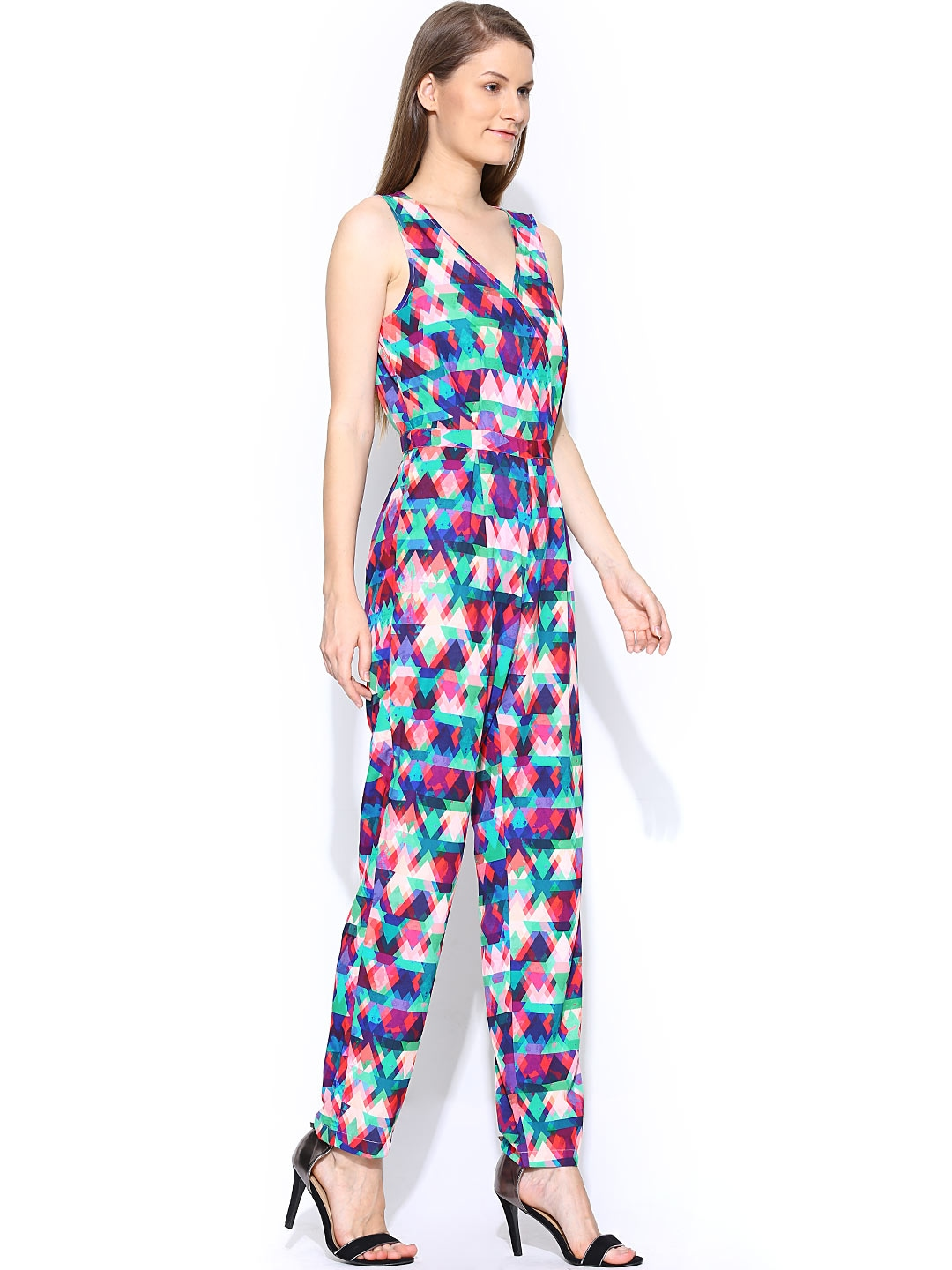 myntra vero moda women multicoloured printed jumpsuit 726839 buy myntra vero moda jumpsuit at. Black Bedroom Furniture Sets. Home Design Ideas