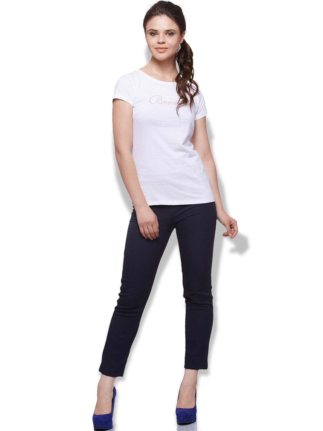 myntra united colors of benetton women white t shirt. Black Bedroom Furniture Sets. Home Design Ideas