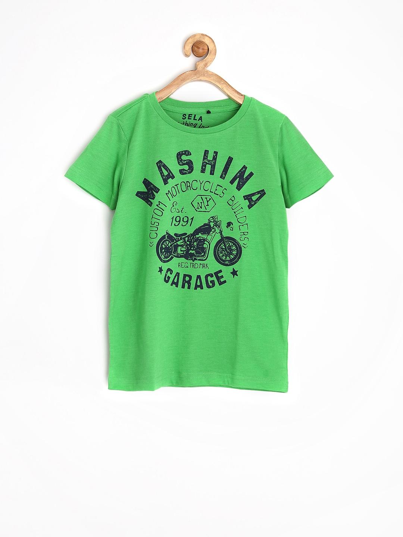 Myntra sela boys green printed t shirt 730413 buy myntra for Boys printed t shirts