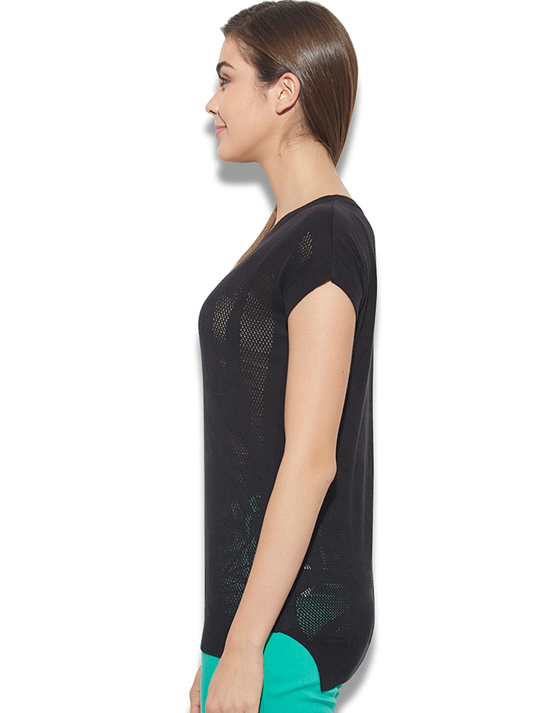 myntra united colors of benetton women black top 730607