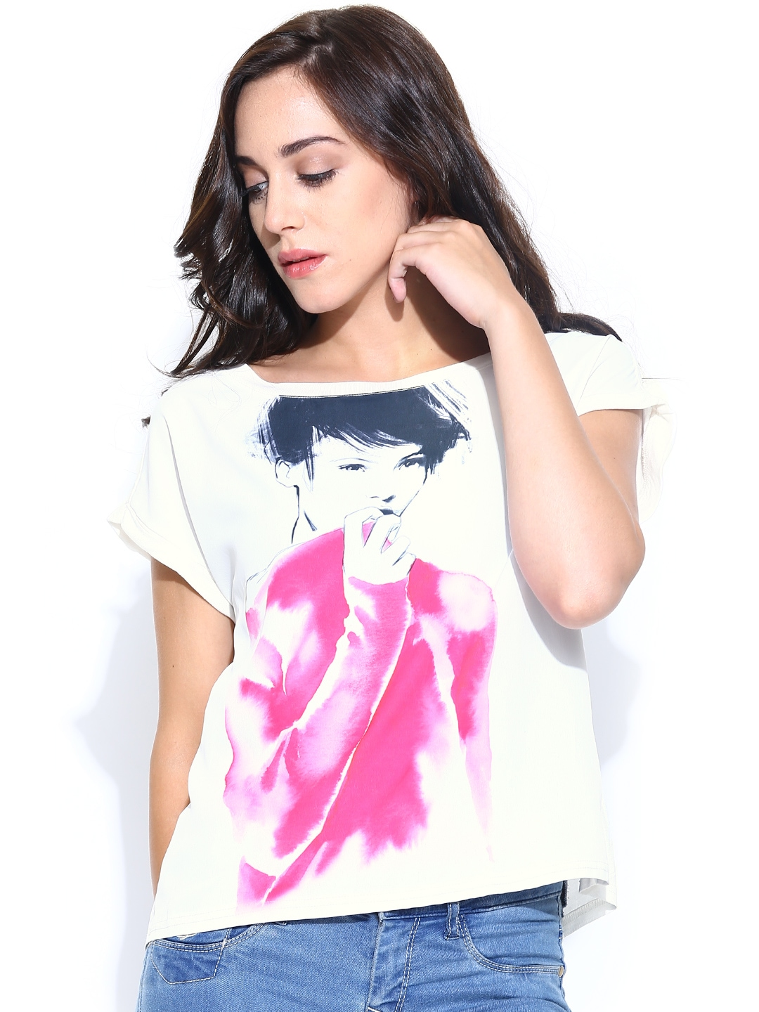 Myntra united colors of benetton women peach coloured for Shop online benetton