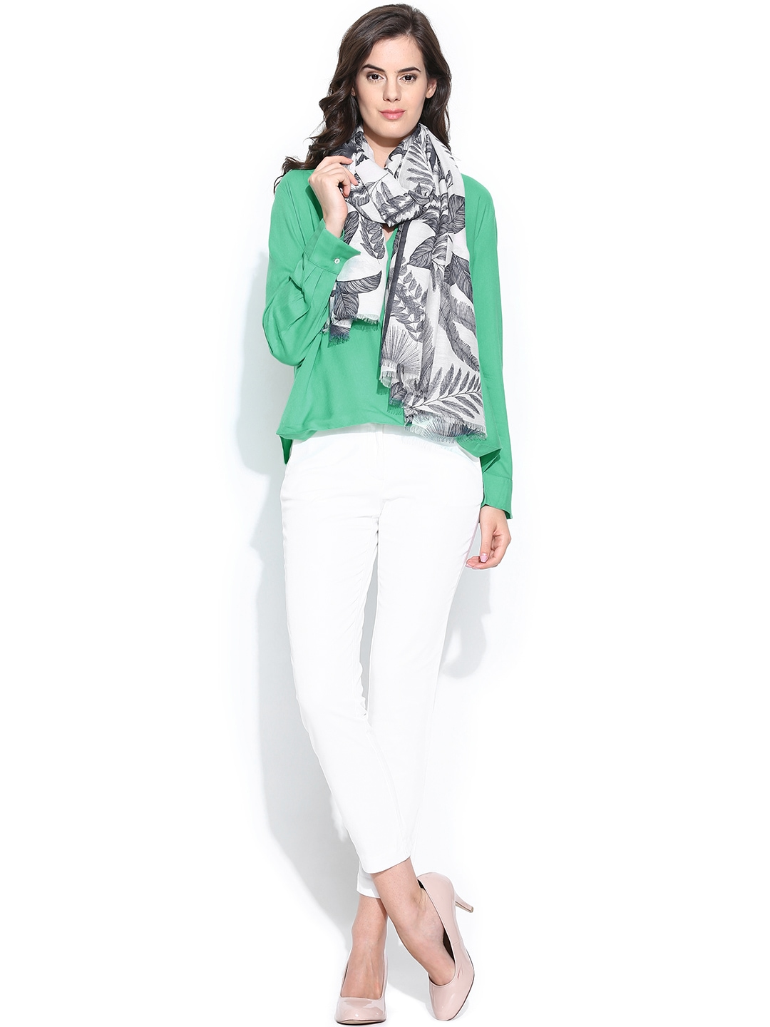 Myntra united colors of benetton women green top 730682 for Shop online benetton