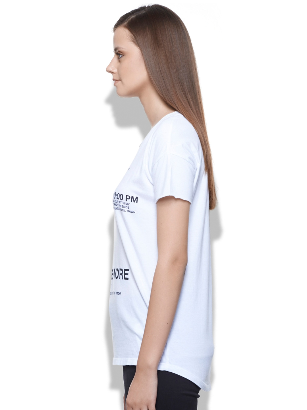 Myntra united colors of benetton women white printed t for Shop online benetton