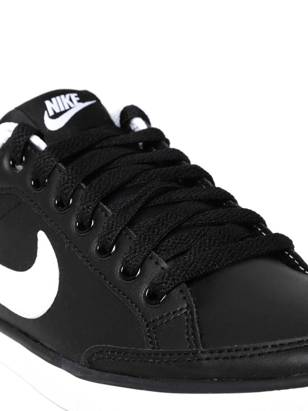 myntra nike black iii low leather casual shoes