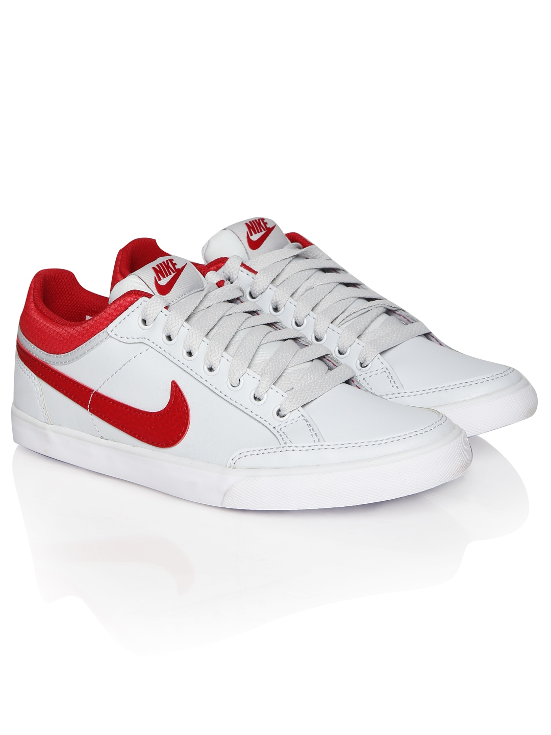 myntra nike white iii low lthr leather casual