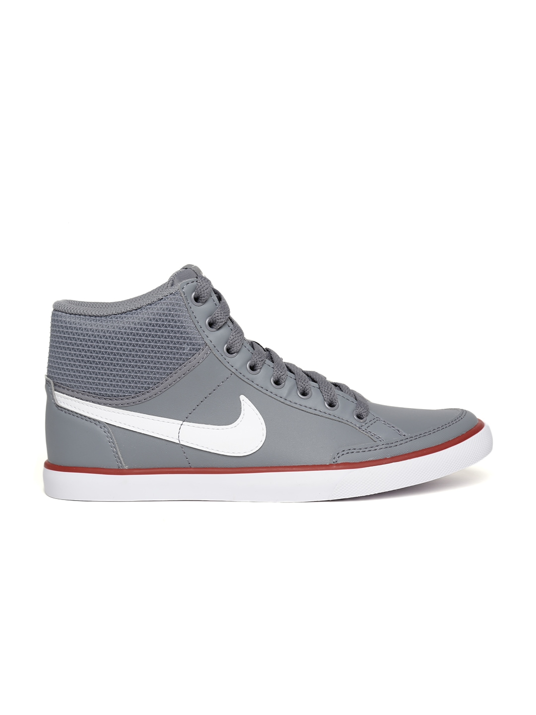 myntra nike grey iii mid leather casual shoes