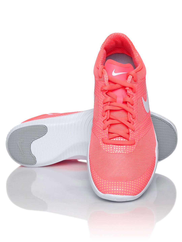 myntra nike women neon pink studio trainer 2 print