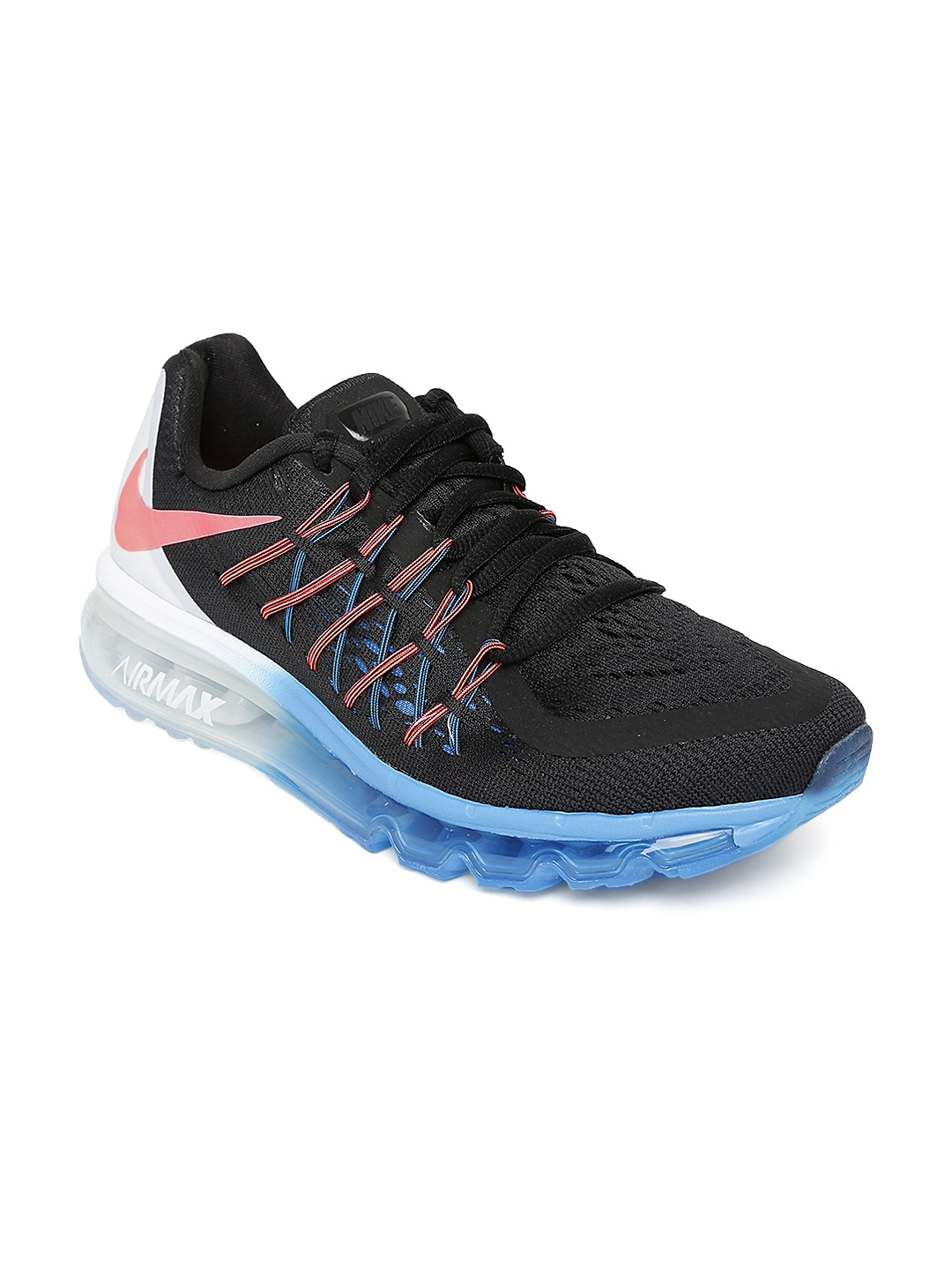 myntra nike black air max running shoes 731379 buy